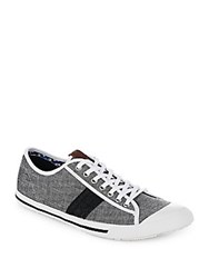 Ben Sherman Textured Lace Up Shoes Black Chambray