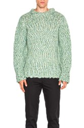 Ann Demeulemeester Chunky Knit Sweater In Green