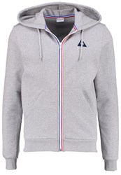 Le Coq Sportif Tracksuit Top Light Heather Grey Mottled Light Grey