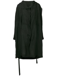 Sara Lanzi Concealed Buttoned Coat Black