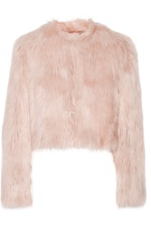 Red Valentino Cropped Faux Shearling Jacket