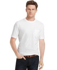 Izod Big And Tall Solid Pocket T Shirt White