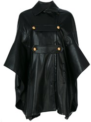 Philosophy Di Lorenzo Serafini Trapeze Hem Swing Coat Women Cotton Polyester Viscose 40 Black