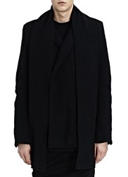 Thamanyah Notch Collar 2 Button Double Blazer Black