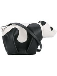Loewe Mini Leather Panda Crossbody Bag Black