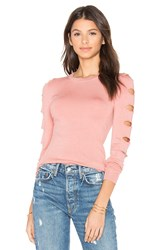 Central Park West Palm Springs Cut Out Sweater Pink