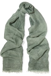 Donna Karan Modal And Silk Blend Scarf Green
