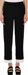 Edun Layered Cropped Trousers Black Size 4 Us