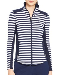 Lauren Ralph Lauren Striped Track Jacket Navy White