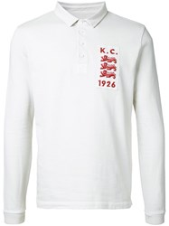 Kent And Curwen Patch Detail Polo Shirt White