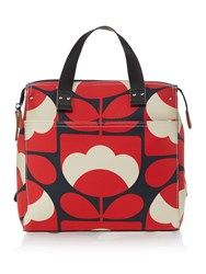 Orla Kiely Spring Bloom Small Backpack Red