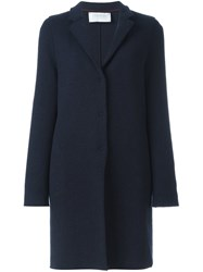 Harris Wharf London 'Cocoon' Coat Blue
