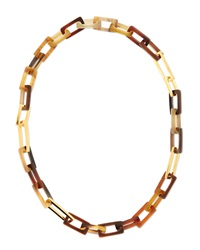 Horn And Gold Plated Medium Link Necklace 32'L Maiyet