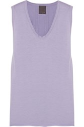 Lot 78 Modal And Cotton Blend Jersey Tank Purple