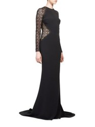 Stella Mccartney Lace Inset Gown Black