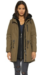 Mackage Sorrel Hooded Jacket Khaki