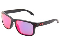 Oakley Holbrook Matte Black W Red Iridium Sport Sunglasses