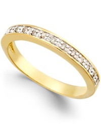 Macy's Diamond Band 1 10 Ct. T.W. In 18K Gold Over Sterling Silver