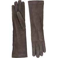 Barneys New York Women's Cashmere Lined Long Gloves Grey