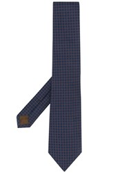 Church's Check Patterned Tie Blue