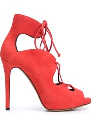 Tabitha Simmons 'Reed' Sandals Red