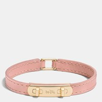 Coach Leather Swagger Bracelet Gold Blush