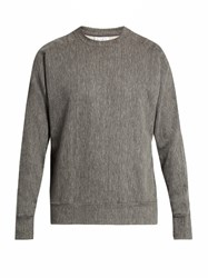 Raey Crew Neck Cotton Blend Jersey Sweatshirt Grey