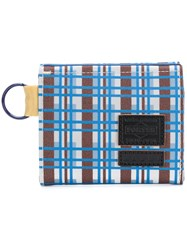 Marni Checked Design Wallet Blue