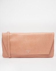 Matt And Nat Oversized Clutch With Optional Shoulder Strap Peach