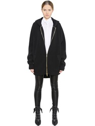 Givenchy Hooded Wool And Cashmere Sweater Black