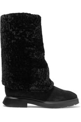 Stuart Weitzman Luiza Chill Shearling Lined Suede Boots Black