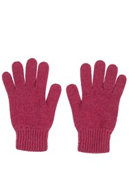 Johnstons Of Elgin Cashmere Ladies Gloves Red