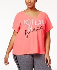 Material Girl Active Plus Size Strappy Back T Shirt Only At Macy's Flashmode