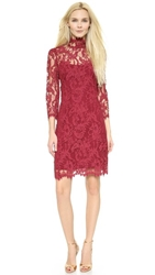 Notte By Marchesa Lace Cocktail Dress Burgundy