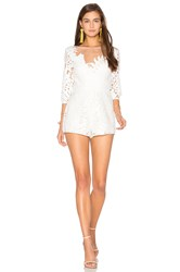 Alice Mccall Rumours Playsuit White
