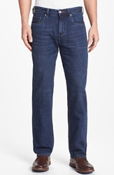 Tommy Bahama Relax 'Coastal Island' Standard Fit Five Pocket Straight Leg Jeans Dark Storm Wash