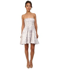 Adrianna Papell Strapless Floral Jacquard Party Dress Lilac Women's Dress Purple