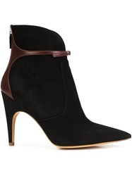 Derek Lam Buckle Front Pointed Toe Boots Black