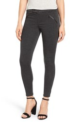 Wit And Wisdom Women's Zip Pocket Ponte Pants Heather Charcoal