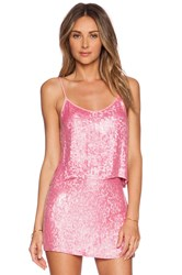 Mlv Britney Sequin Crop Top Pink