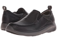 Clarks Charton Step Black Leather Men's Slip On Shoes