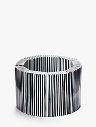 One Button Stretch Pinstripe Cuff Black Ivory