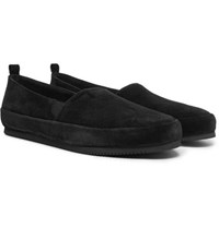 Mulo Suede Loafers Black