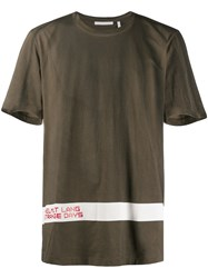 Helmut Lang Weathered T Shirt Green