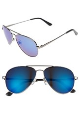 Men's 1901 Davis Aviator Sunglasses Gunmetal Blue Gunmetal Blue