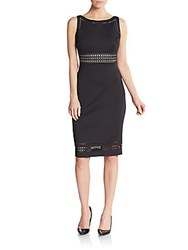 Karl Lagerfeld Cutout Sheath Dress Black