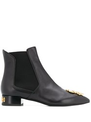 Moschino Dollar Sign Plaque Ankle Boots 60