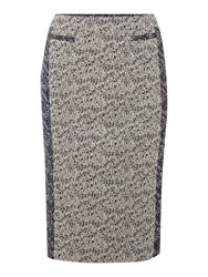 Linea Contrast Tweed Pencil Skirt Multi Coloured