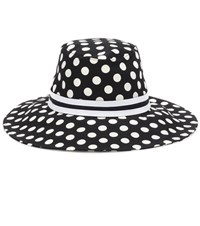 Dolce And Gabbana Cotton Polka Dot Hat Black
