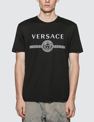 Versace Sustainable Logo Slim Fit T Shirt Black